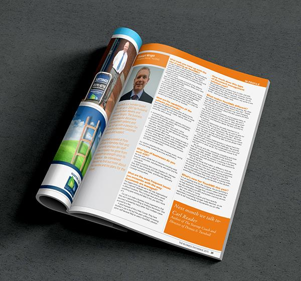 Stewart Wright - 'In Profile' in The Business Exchange magazine