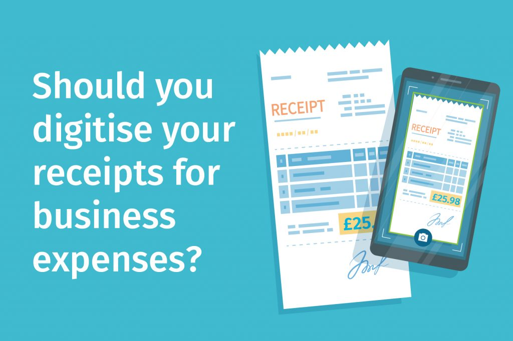 Should you digitise your receipts for business expenses?